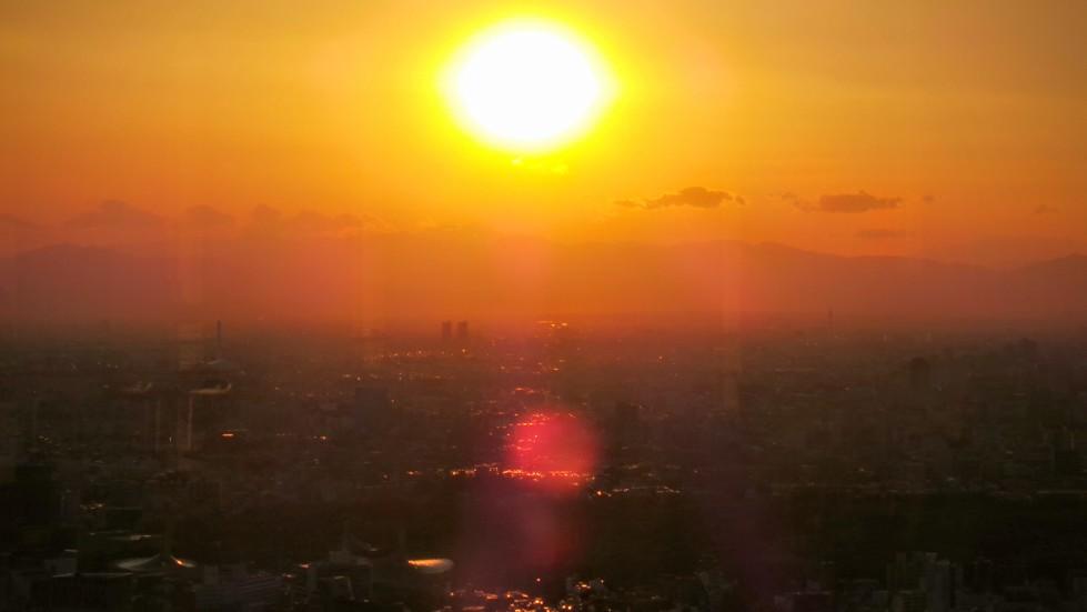 Sunset over Tokyo Japan