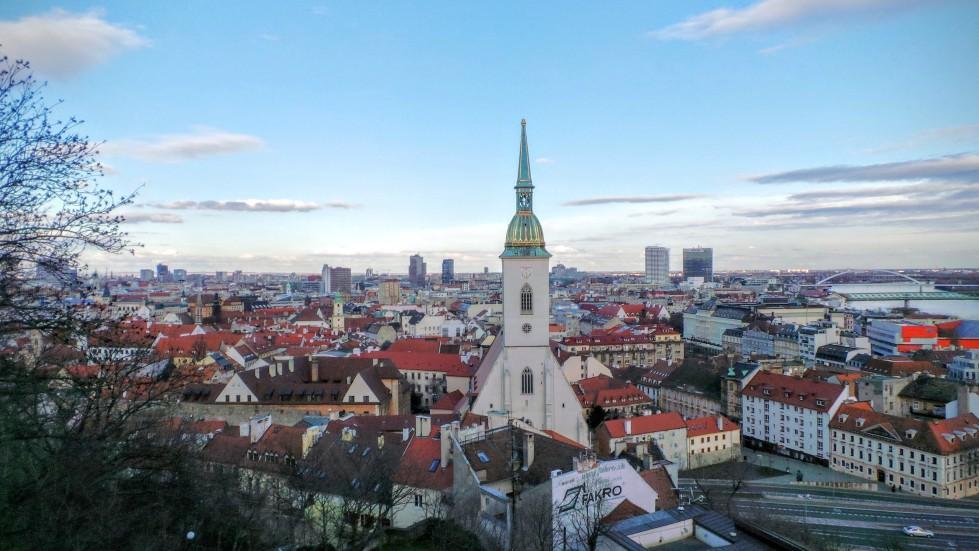 View of Bratislava Slovakia