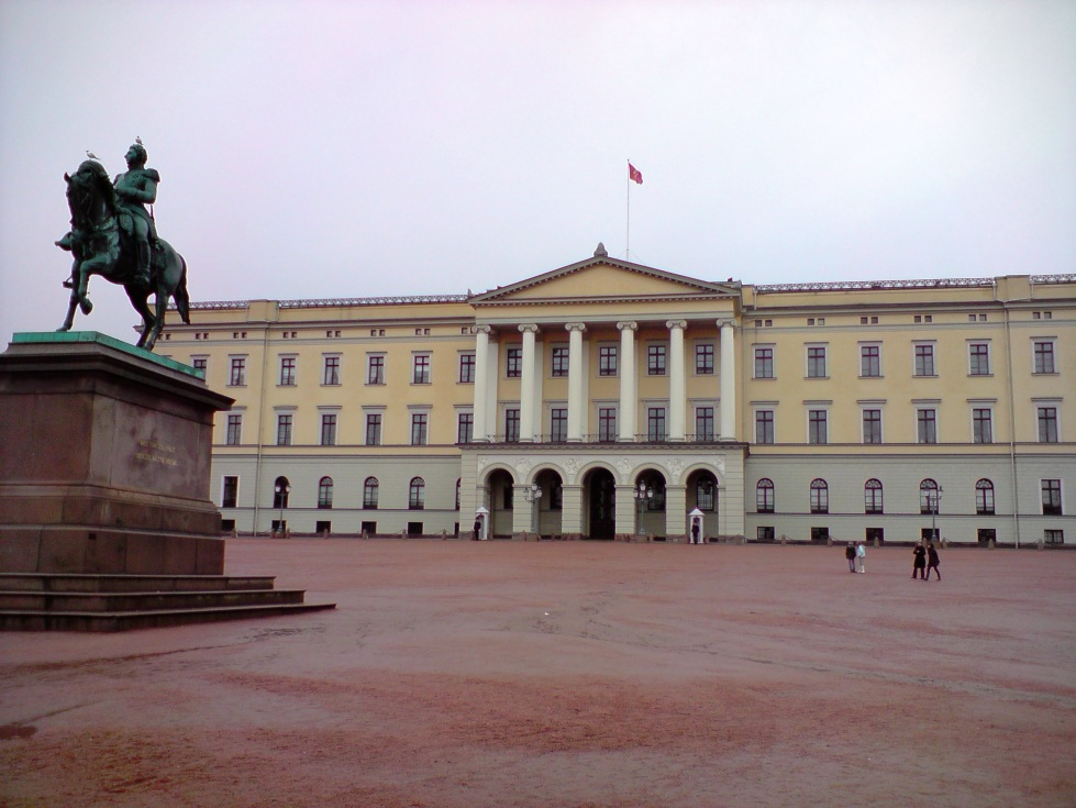 The Royal Palace in Oslo Norway