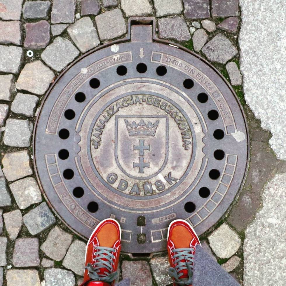 Gdansk man hole sewer drain cover