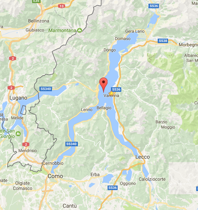 Lake Como looks like a running man